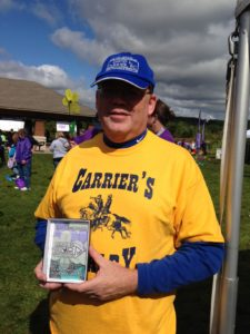 David Carrier of Carrier's Cavalry at the Alzheimers Walk