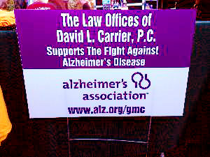 carriers cavalry alzheimers walk sign