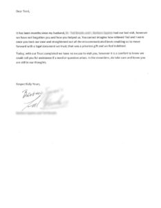 david carrier client testimonial letter ted and barbara