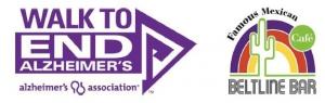 alzheimers walk and beltline bar logos
