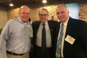 david carrier, david brewster and bill kozak at the meals on wheels event