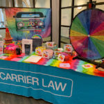 the carrier law table at the council on aging kent county's peace, love and aging conference