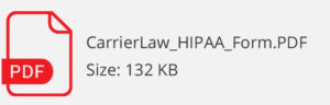 carrier law hipaa form download