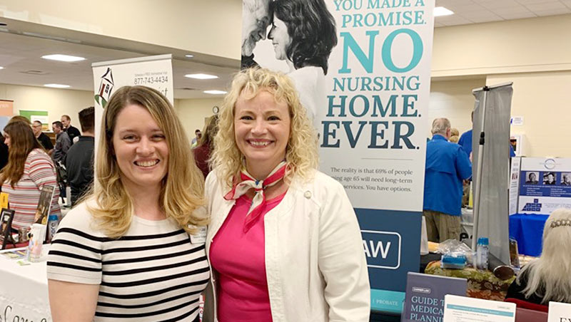 samantha sprague and beth griffin at Mattawan Lion's Club Senior & Veteran's Expo