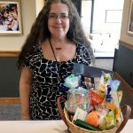 portage smg health pop-up fair participant and a gift basket